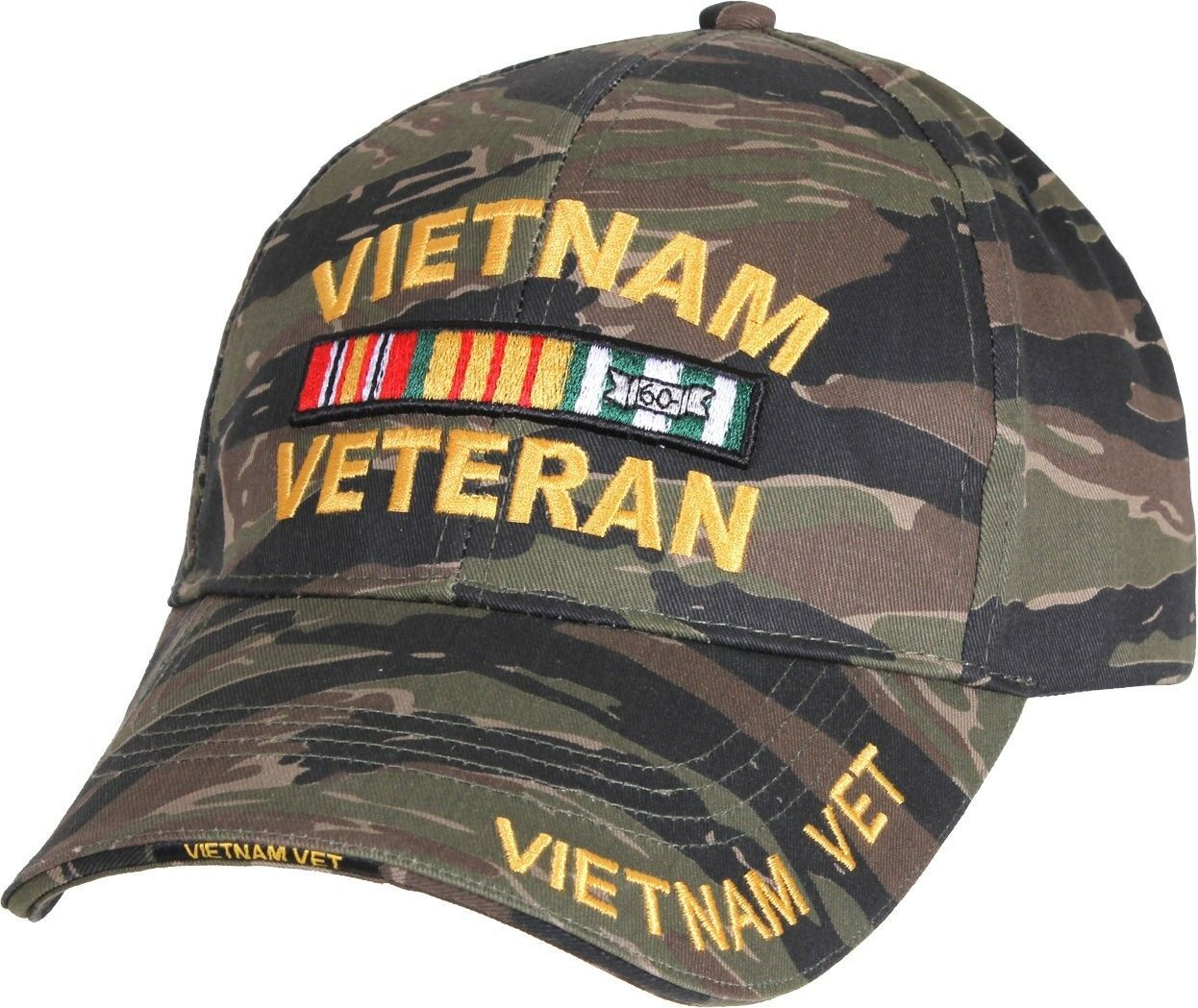 Primary image for Tiger Stripe Camouflage Vietnam Veteran Military Adjustable Cap