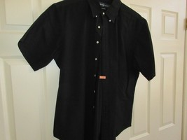 Ralph Lauren , XL , Classic Fit , 100% Cotton , Short Sleeve , Black - $29.00