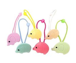 Elephants Style Baby Kids Elastic Hair Ponytail Holders Hair Ropes, 12 pieces