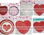 MOMENTUM* Various Sizes HEART DOILIES Party Supplies VALENTINES DAY *YOU CHOOSE*