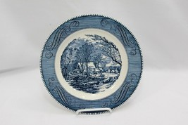 "Currier and Ives Dinner Plates Old Grist Mill 10"" Set of 11 - $78.39"