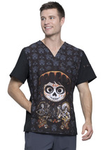 Coco Cherokee Tooniforms Disney Pixar Mens V Neck Scrub Top TF700 COCC - $15.97+