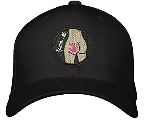 Spank Me Hat - Adjustable Black/White/Red - Funny Adult Womens Cap