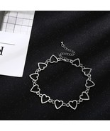 Choker Necklace Heart New Design Punk Gold Necklace Boho Gothic Fashion ... - $10.21