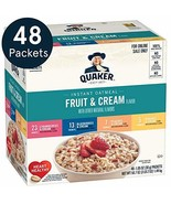 Quaker Instant Oatmeal, Fruit & Cream 4 Flavor Variety Pack, Individual ... - $11.09
