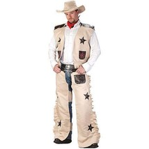 Cowboy Adult Halloween Costume, Size: Up to 200 lbs - One Size  - $52.18
