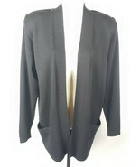 St John Separates Santana Knit Jacket M Black Open Front Made In USA Poc... - $98.99
