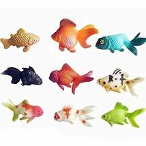 East Majik 7 Pcs Plastic Artificial Small Goldfish Ornament Fish Tank, R... - $21.97