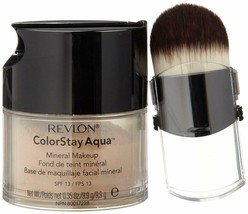 100 % Natural Revlon Colorstay Aqua Mineral Makeup Medium Deep Free Ship - $22.81