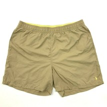 Polo Ralph Lauren Board Shorts 2XB 2X Big Mesh Lined Yellow Nylon Short Trunks - $25.45