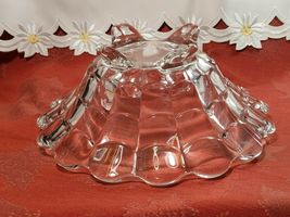 """VINTAGE  American Four Footed Glass Bowl w Flared Top Edge 10""""x4"""" image 9"""