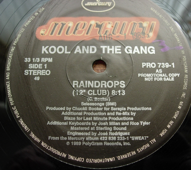 Kool and the Gang - Raindrops - Mercury Records PRO 739-1 - PROMO