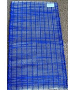 "Royal Blue Velour Woven Rag Rug Hand Loomed 36"" x 22"" New USA Made    - $32.67"