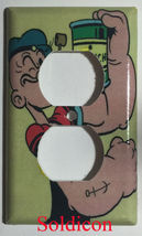 Popeye with Spinach Comic Light Switch Power Outlet Wall Cover Plate Home Decor image 2