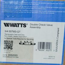 Watts Double Check Valve Assembly 0062020 3/4 Inch Connection image 6