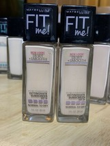 X2 Maybelline Fit Me Dewy Smooth Liquid Foundation 110 Porcelain NEW - $14.84
