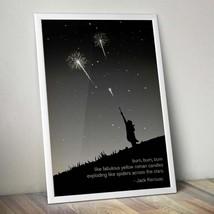 Jack Kerouac On the Road Burn Literary Quote Poster Vintage Art Illustra... - $8.86+