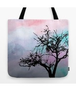 Tote bag All over print Design 32 Tree Silhouette pink art painting L.Dumas - $29.99 - $35.99