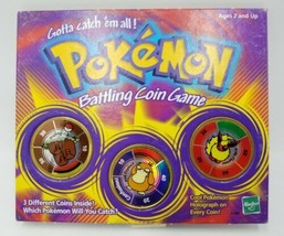 Pokemon Battling Coin Game Hasbro 1999 Includes Dugtrio Psyduck and Flareon - $14.99