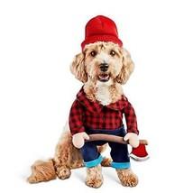 Bootique XL Dog Costume Halloween Lumberjack Hat Ax Plaid Shirt X-Large - $24.99