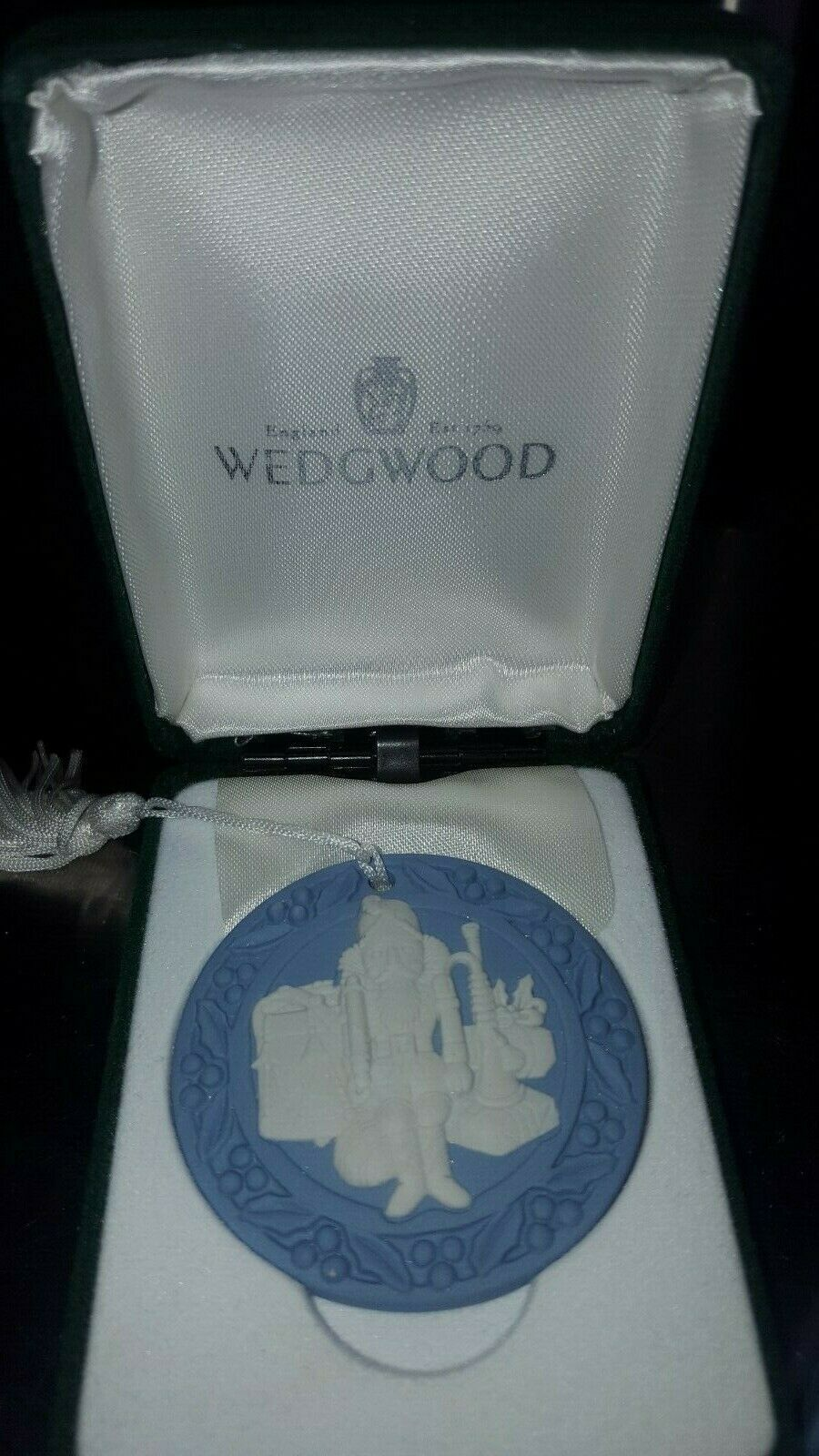 Lot of 2-Genuine Wedgwood Annual Jasperware Ornaments-U.K.-Xmas & Nutcracker image 2
