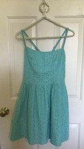 LILLY PULITZER $228 Elisse Dress Turquoise Lace Fit & Flare Size 0 blue ... - $29.67