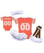 Personalized Chicago  Bears Girls Custom Jersey Uniform Onesie  - $27.95+