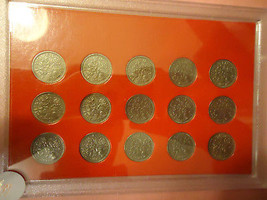 COIN CASE OF 15 ENGLISH SIX PENCE  ** 1953 - 1967 **     >>COMBINED SHIP... - $39.55