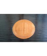 Vintage Monogram MHF Round Cirlce Disk Gold Tone Pin Brooch - $2.85
