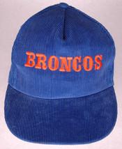 Vtg Denver Broncos Hat/Cap-Corduroy-Blue-Embroidered-SnapBack-NFL-Footba... - $51.41