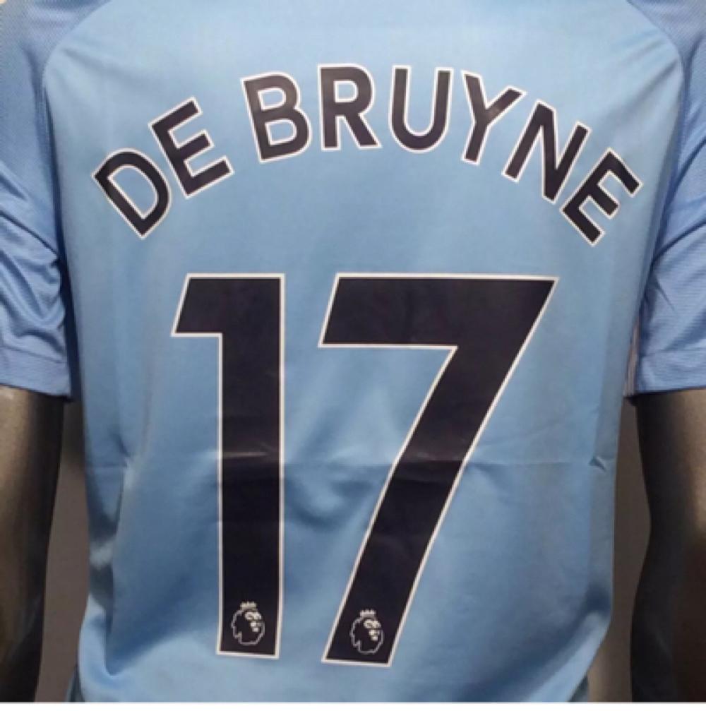 2017-18 Manchester City Nike Kevin De Bruyne #17 4XL Away Soccer Jersey