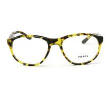 Prada Eyeglasses VPR 12S UBL 1O1 Yellow Havana 54 18 145 Acetate - $85.50