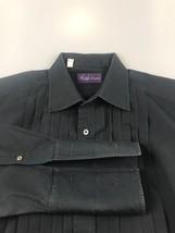 Ralph Lauren Purple Label Tuxedo Shirt Black Italy French Cuffs 16 32 - $112.02