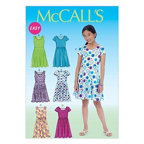 Primary image for McCall Pattern Company M7079 Girls'/Girls' Plus Dresses, Size PLS