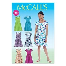 McCall Pattern Company M7079 Girls'/Girls' Plus Dresses, Size PLS - $14.21