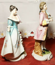 Vintage Lefton China Pair of Colonial Man & Woman Figurines KW7225 image 8
