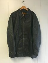 FOUNDRY Men's Leather Jacket Black 2XL Tall  #J388 - $59.99