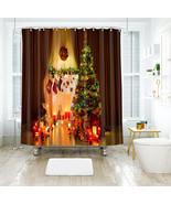 3D Weihnachten Xmas 181 Duschvorhang Wasserdicht Faser Bad Daheim Window... - $63.52+