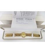 Raymond Weil 18K Gold Electroplated Quartz Watch w/Crystals #5353 COA Vt... - $795.00