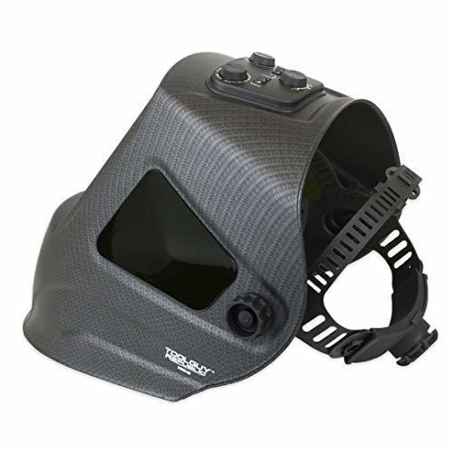 "TGR Extra Large View Auto Darkening Welding Helmet 4""W x 3.65""H with SIDE VIEW"