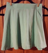 Pink Victoria's XS Mint Green Short Flare Stretch Skirt - $19.64
