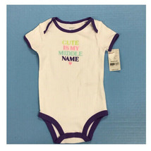 """Carters short sleeve """"Cute Is My Middle Name"""" romper 9 MONTHS NEW! - $7.87"""