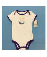 "Carters short sleeve ""Cute Is My Middle Name"" romper 9 MONTHS NEW! - $7.87"