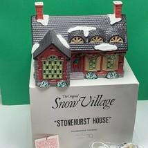 Department 56 Snow village Christmas figurine box 5140-3 Stonehurst Hous... - $72.39