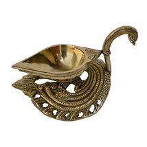 Brass Made decorative Pooja ghar Aarti oil lamp/Diya - $43.99