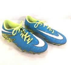 Nike Soccer Cleats Hypervenom 744944-40 Men's Sz 9.5 Blue Green Better W... - $74.25