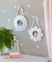 "Wood Hanging Frame Set Layered Flower Pedal Gift Decor 8 x 8"" 10"" x 10"" ... - $35.99"