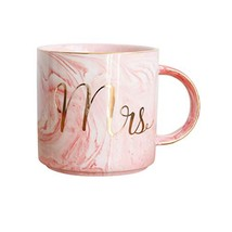 Mrs Marble Mug - 13 Ounce Cup with Handle for Coffee,Tea,Cocoa,Milk and ... - $15.14
