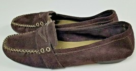 Rockport 9W Womens Brown Leather Suede Leather Penny Loafers Flats Slip On - $32.97