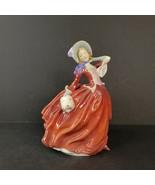 Vintage Royal Doulton Figurine Autumn Breezes Lady HN1934 England Porcelain - $59.99
